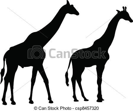 450x377 Giraffe Silhouette