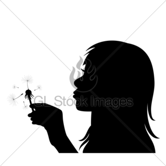 325x325 Girl Blowing On Dandelion Gl Stock Images