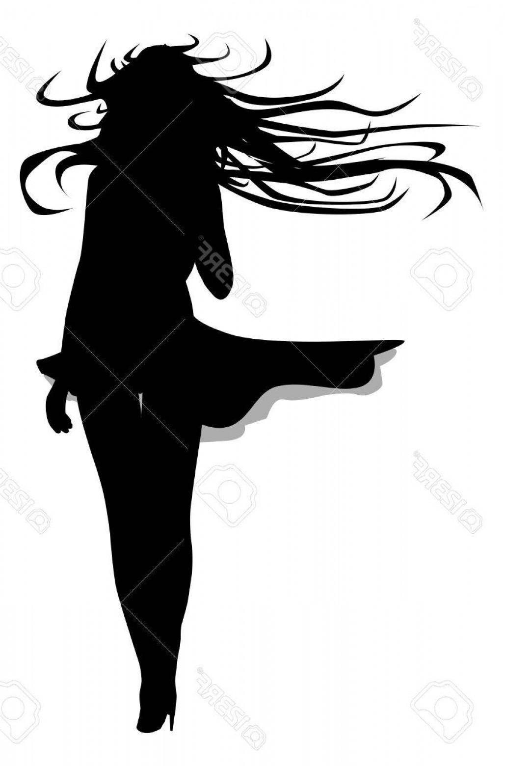 1029x1560 Woman Blowing Hair Silhouette Vector Lazttweet