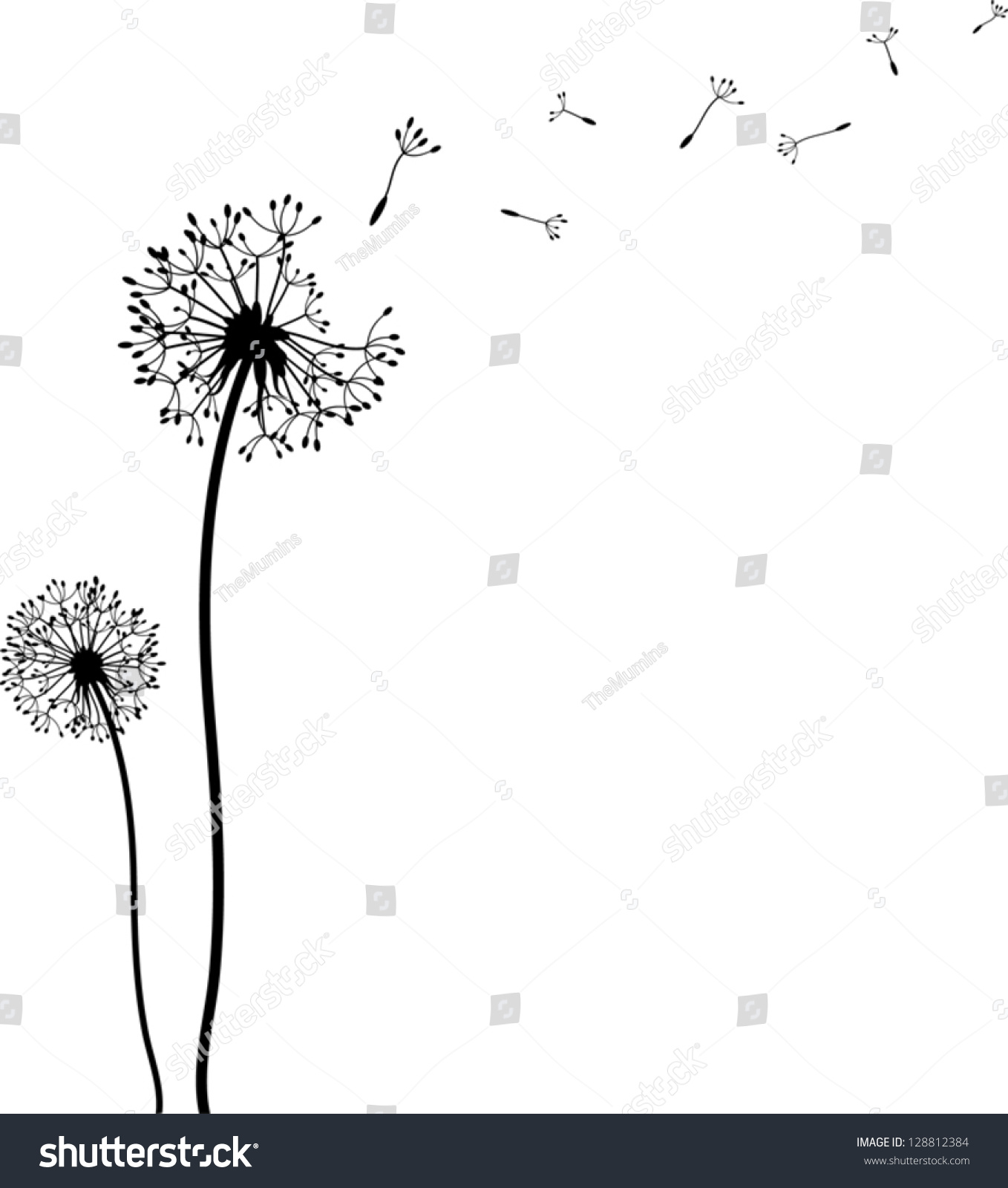 1358x1600 Dandelion Clipart Blowing Many Interesting Cliparts