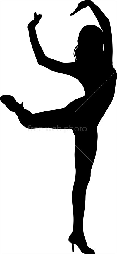 400x868 Silhouette Of Dancing Woman Photo 3830 Download