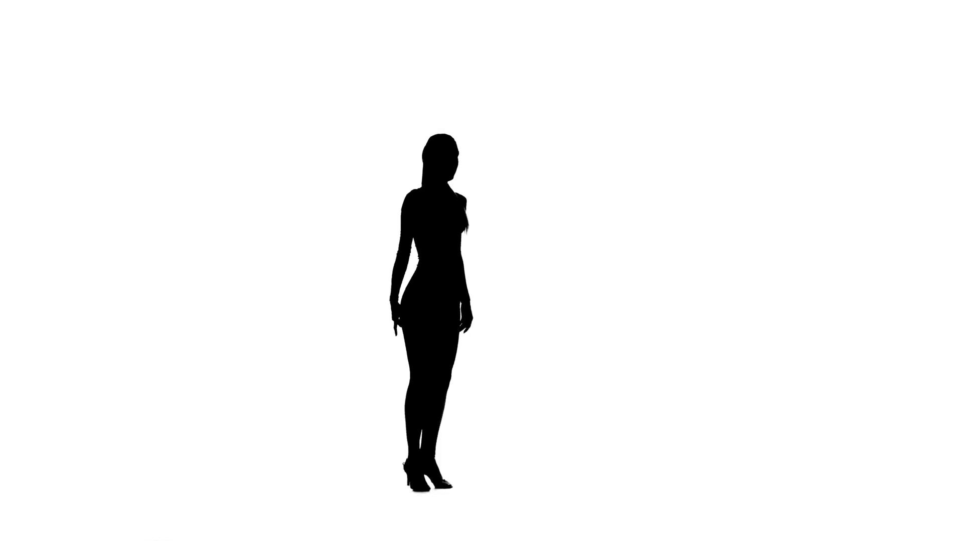 1920x1080 Slim Professional Dancer Girl Dancing Rumba On White Background