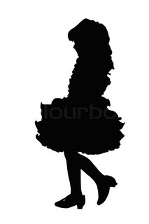213x320 Detailed Silhouette Of Small Girl On Amusement Park Swing Stock