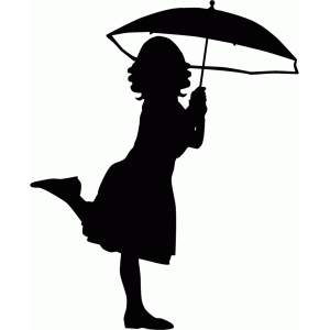 300x300 Girl With Umbrella Silhouette Silhouette Design, Silhouette And Shop