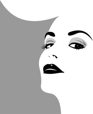 299x368 Girl Face Silhouette Free Vector Download (9,446 Free Vector)