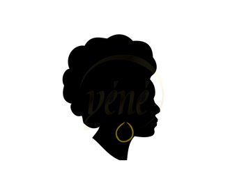 340x270 Afro Puff Silhouette Svg Silhouette Head For Cricut Vector