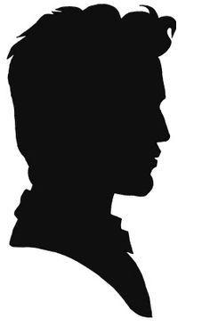 236x375 Victorian Woman Head Silhouette