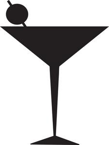 225x300 Martini Glass Silhouette Clipart Panda