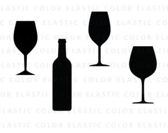 340x270 Svg Png File Wine Glass Wine Bottle Wine Glass Clipart Cut File