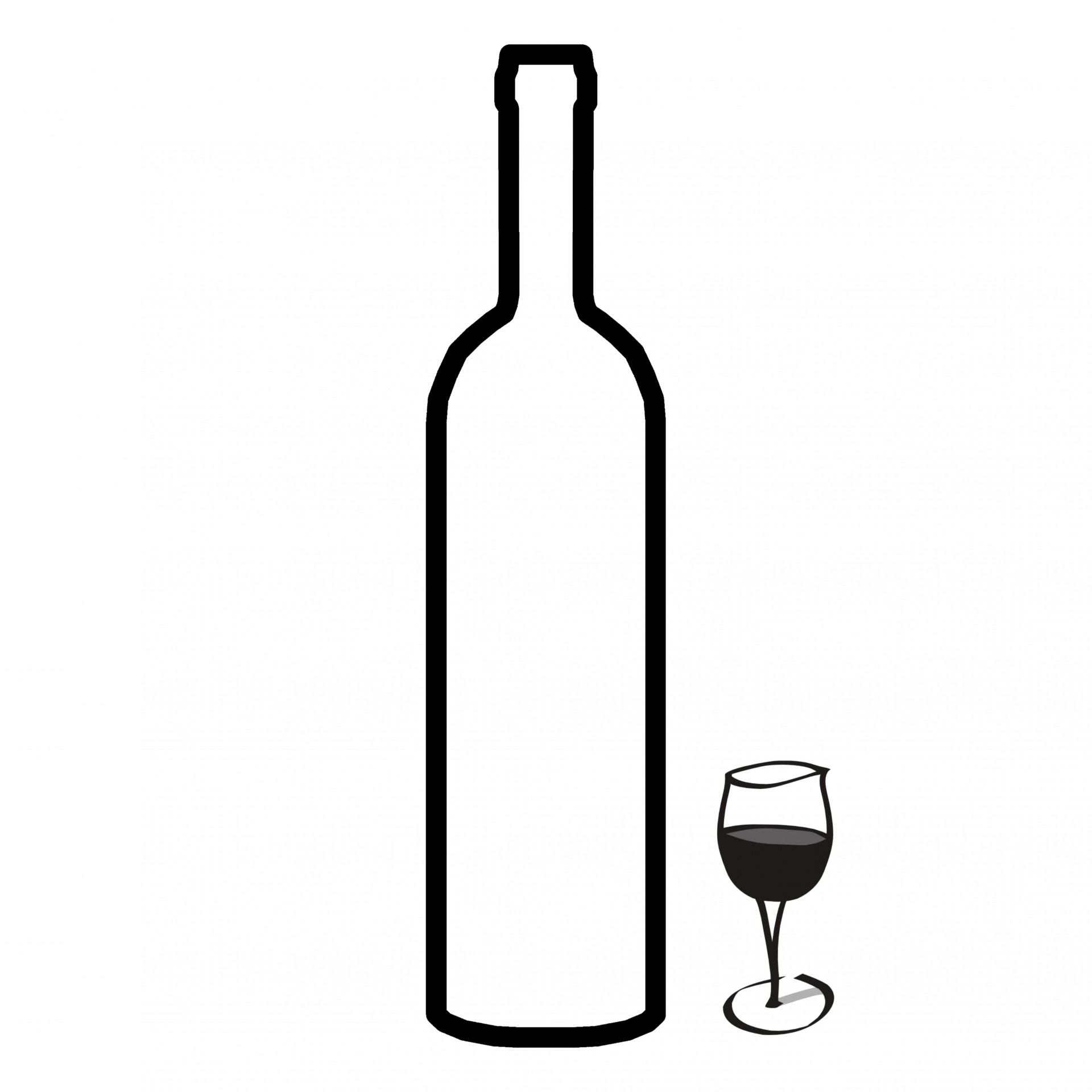 1920x1920 Bottle And Glass Silhouette Free Stock Photo