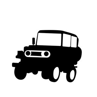 340x340 Free Silhouette Vector Toy, Car, Cart, Classic
