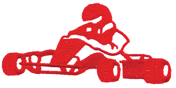 600x301 Go Cart Silhouette Embroidery Designs, Machine Embroidery Designs