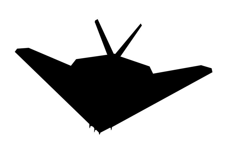754x480 Stealth Fighter Silhouette 2 Decal Sticker