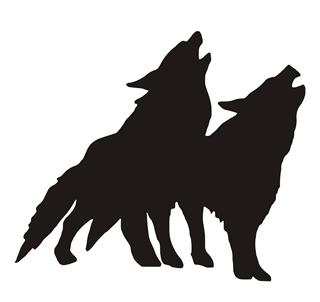 320x302 Wolves Silhouette Decal Sticker