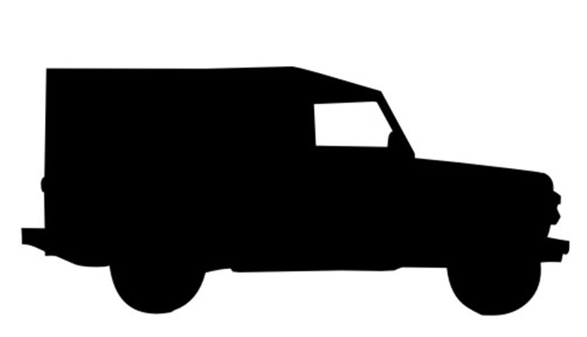 836x480 Army Jeep Silhouette 2 Decal Sticker