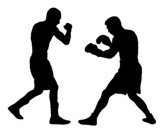 320x266 Boxing Silhouette 1 Decal Sticker