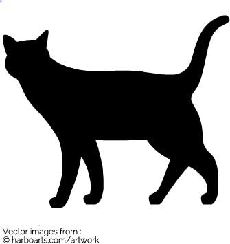 335x355 Download Walking Cat Silhouette