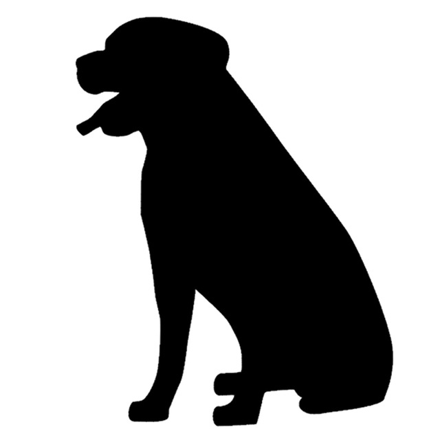 640x640 Rottweiler Dog Silhouette Graphic Sitting Sticker For Car Window