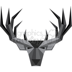 300x300 Royalty Free Geometric Buck Illustration Silhouette Geometry Logo