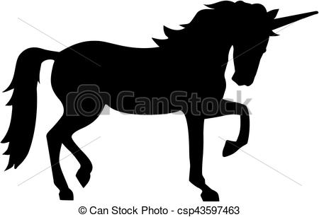 450x307 Unicorn Silhouette Clip Art Vector