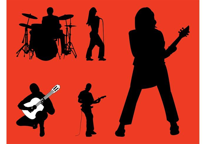 700x490 Rock Band Silhouettes Graphics