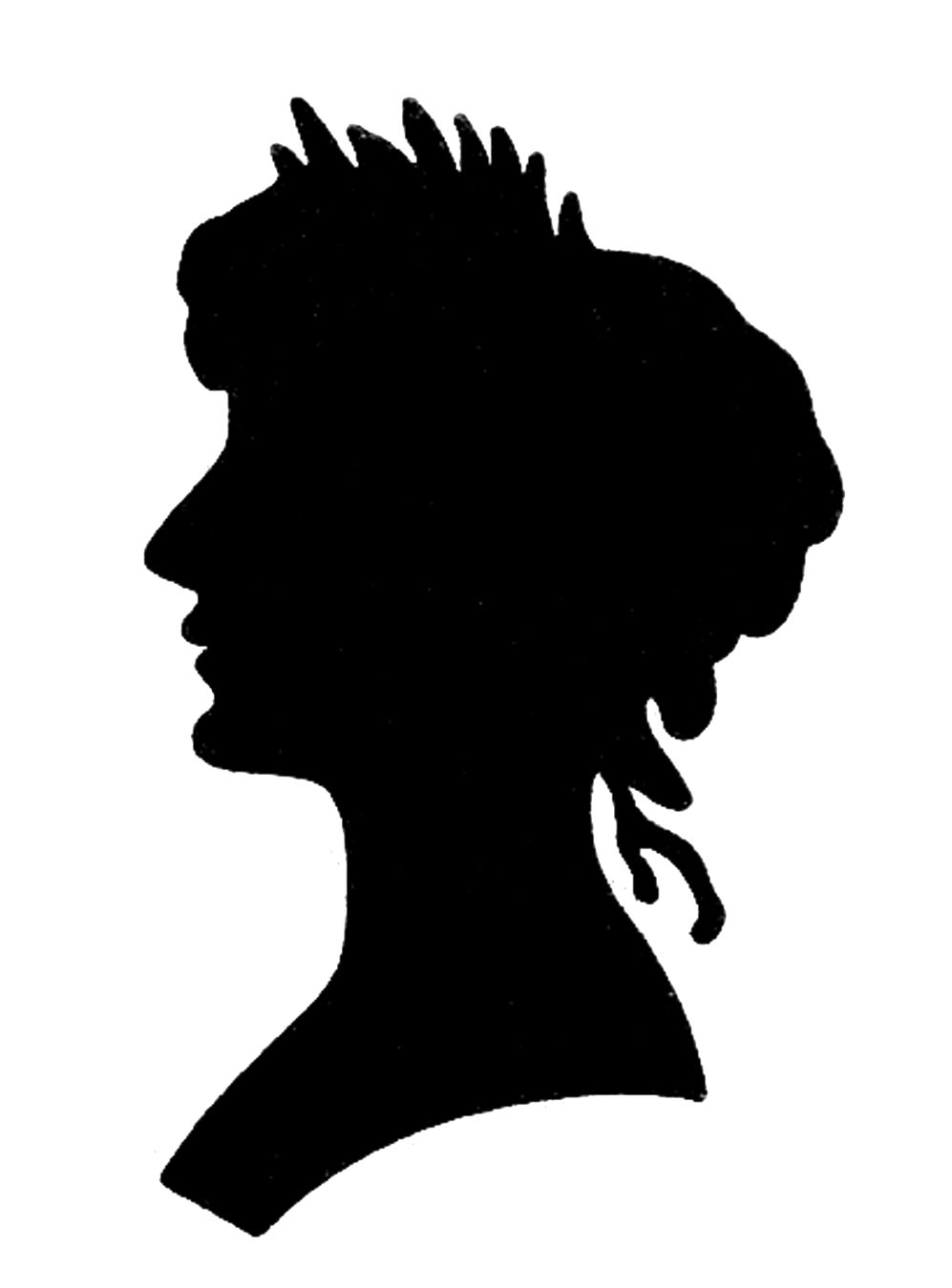 997x1350 Vintage Graphic Images Silhouette Lady With Floral Frame