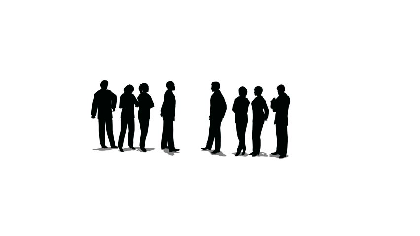852x480 Group Of People Talking Silhouette Pics Download