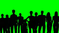 240x134 Large Group Of People In Silhouette ~ Video Clip
