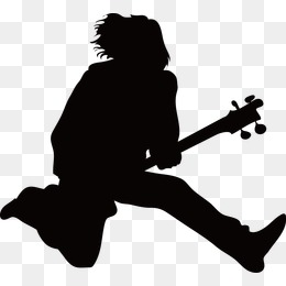 260x260 Fiery Guitar Cool Background, Play The Guitar, Silhouette Figures