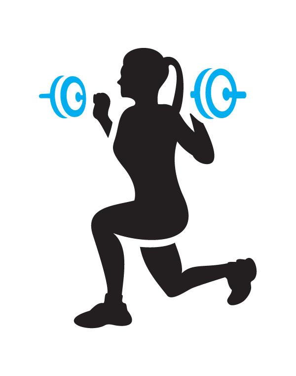 600x761 Fitness Training Clipart