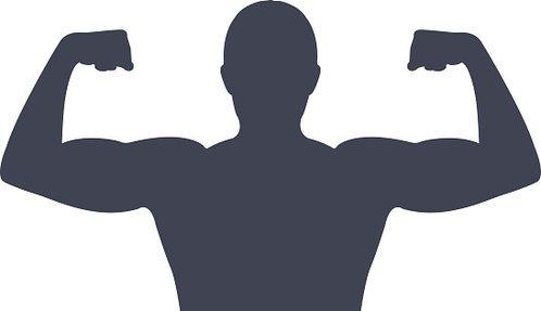 498x287 Gym Man Silhouette Premium Clipart
