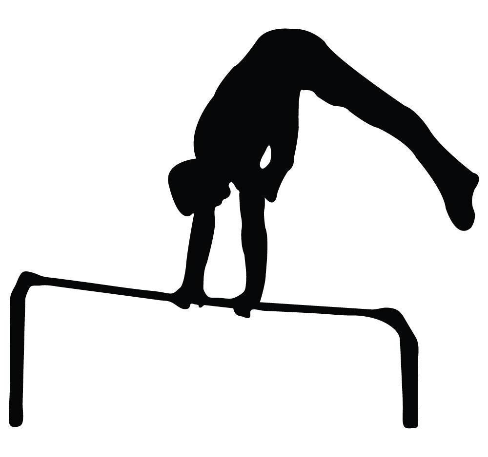 1000x938 Top 10 Gymnastics Clipart Silhouette Bars Cdr