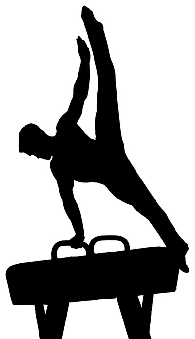 400x695 Gymnast Clipart Silhouette