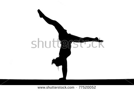 450x307 Gymnastics Clipart Silhouette Beam