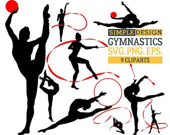 340x270 Gymnast Silhouettes Etsy