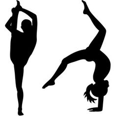 236x236 Gymnastic Silhouettes Royalty Free Cliparts, Vectors, And Stock