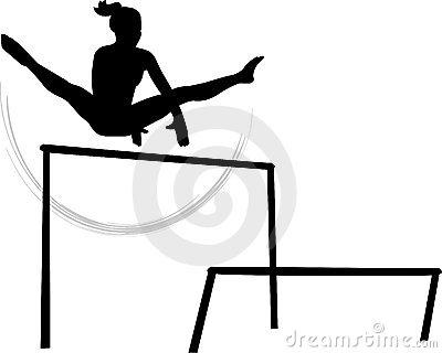 400x320 Gymnastics Bars Clipart