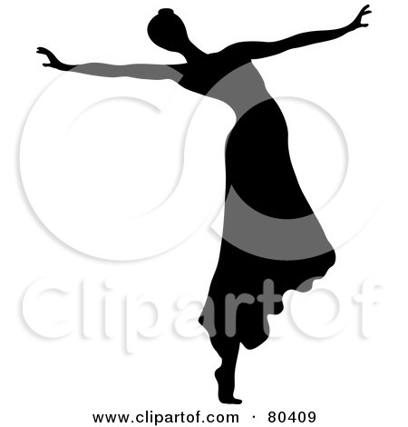 450x470 Royalty Free (Rf) Clipart Illustration Black Silhouette