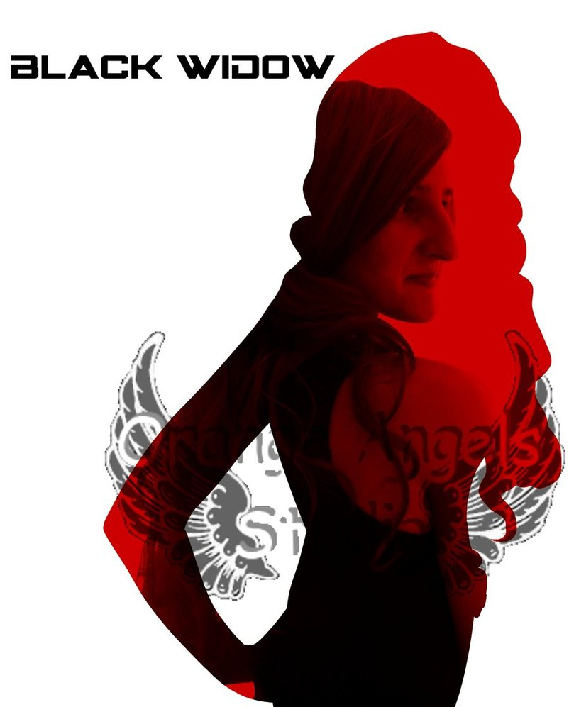 802x997 Avenger Silhouette Black Widow By Orangeangelsstudio