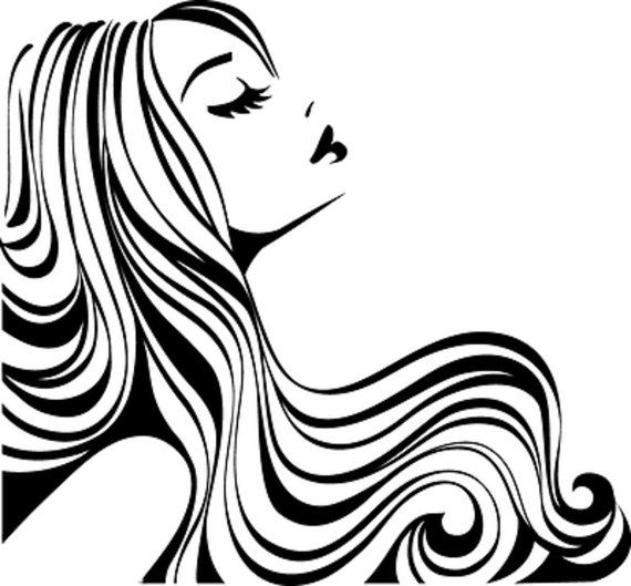 570x529 Hair Salon Decal Hair Stylist Hair Studio Winow Decalshair