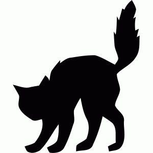 Silhouette Halloween Cat