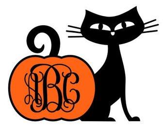 340x270 Halloween Svg Halloween Clipart Halloween Monogram Cat
