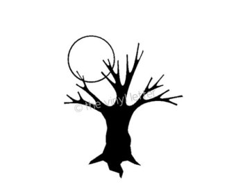 Silhouette Halloween Tree