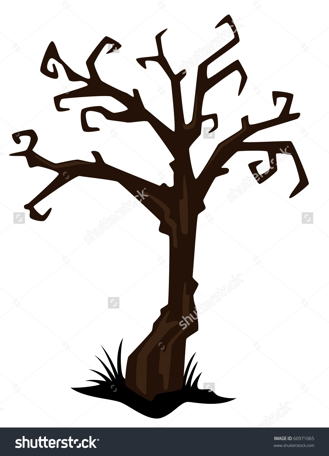 1155x1600 halloween gnarled trees silhouette clipart