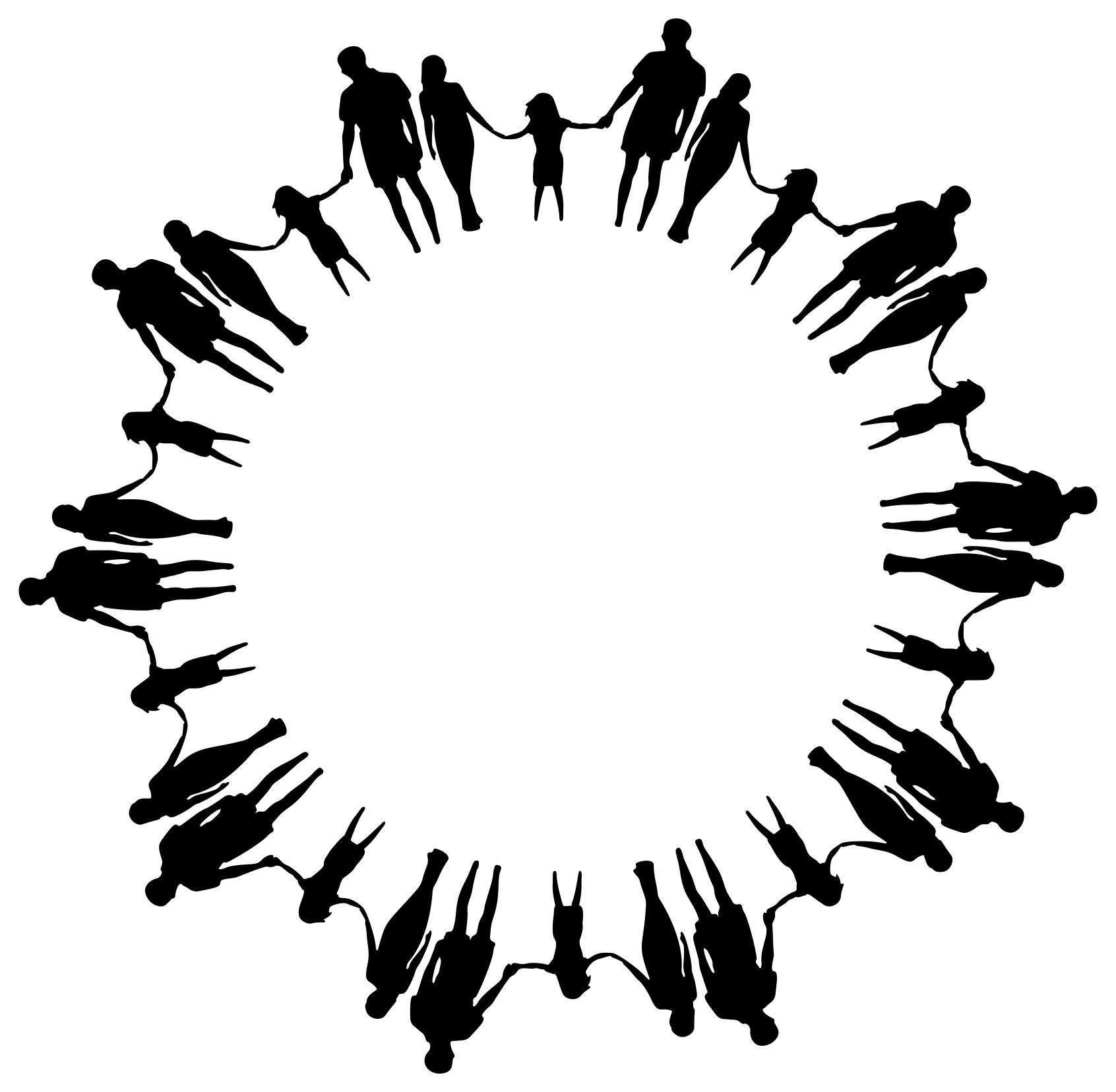 1692x1656 Family Silhouette Holding Hands Circle Clipart