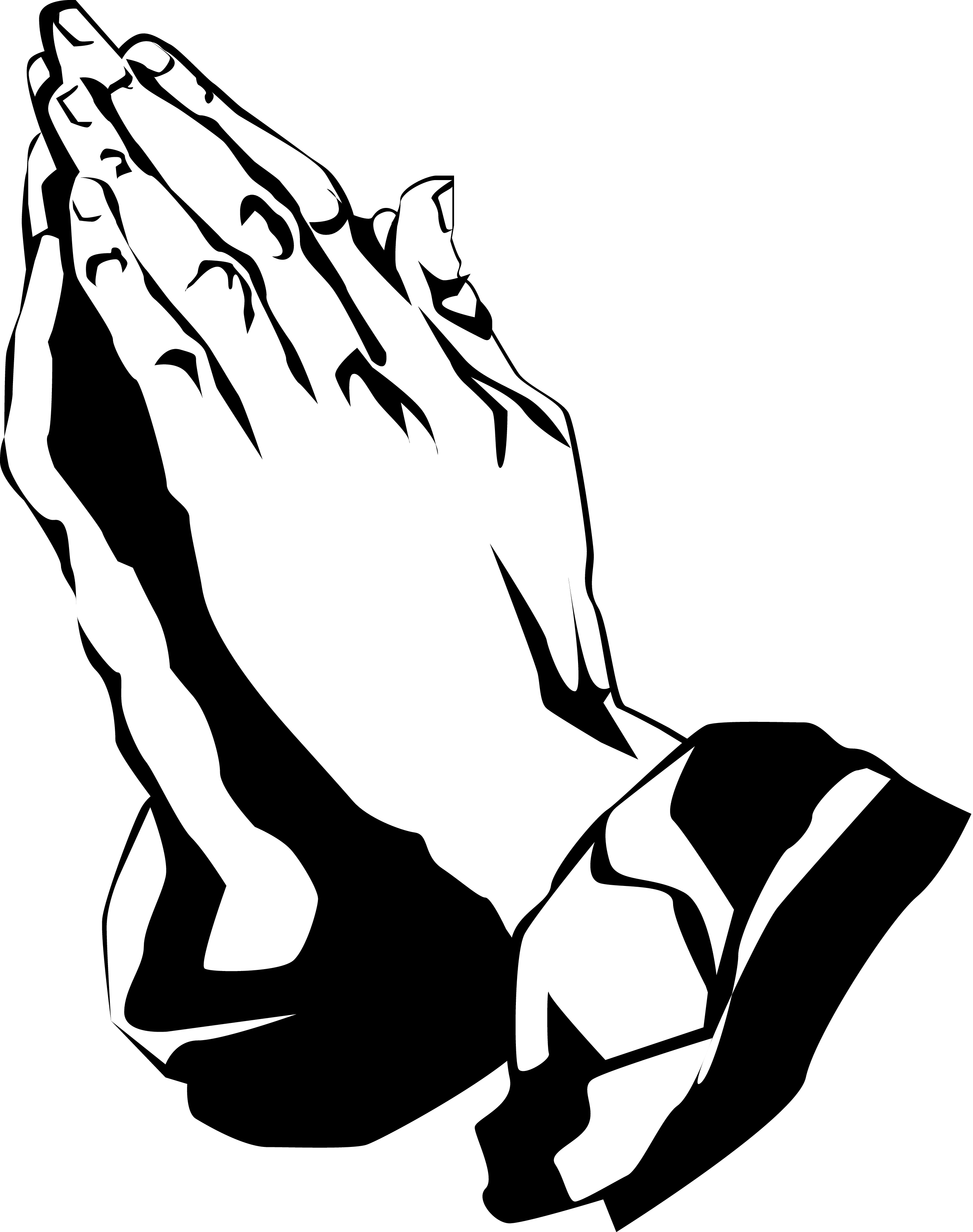 2550x3229 Praying Hands Silhouette Clipart