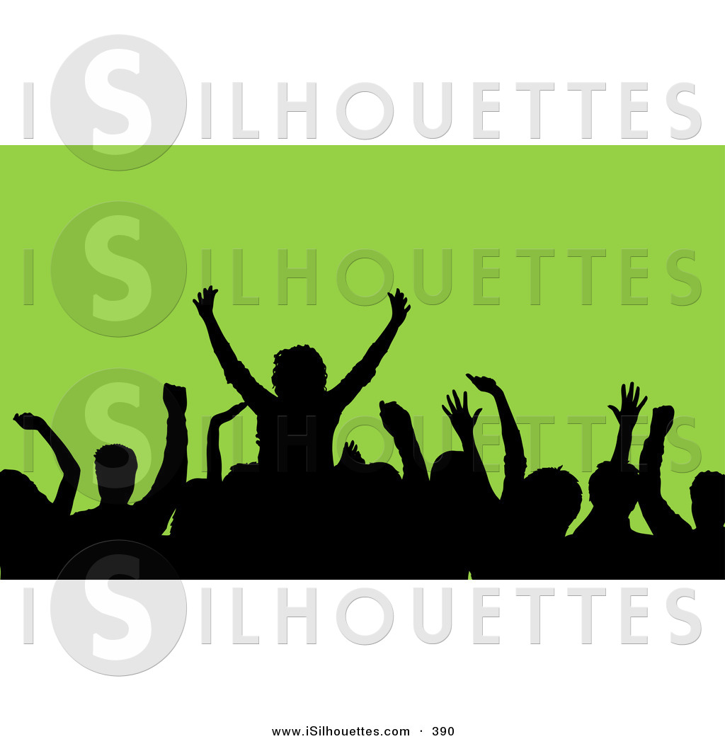 1024x1044 Silhouette Clipart Of A Black Silhouetted Crowd Waving Their Hands