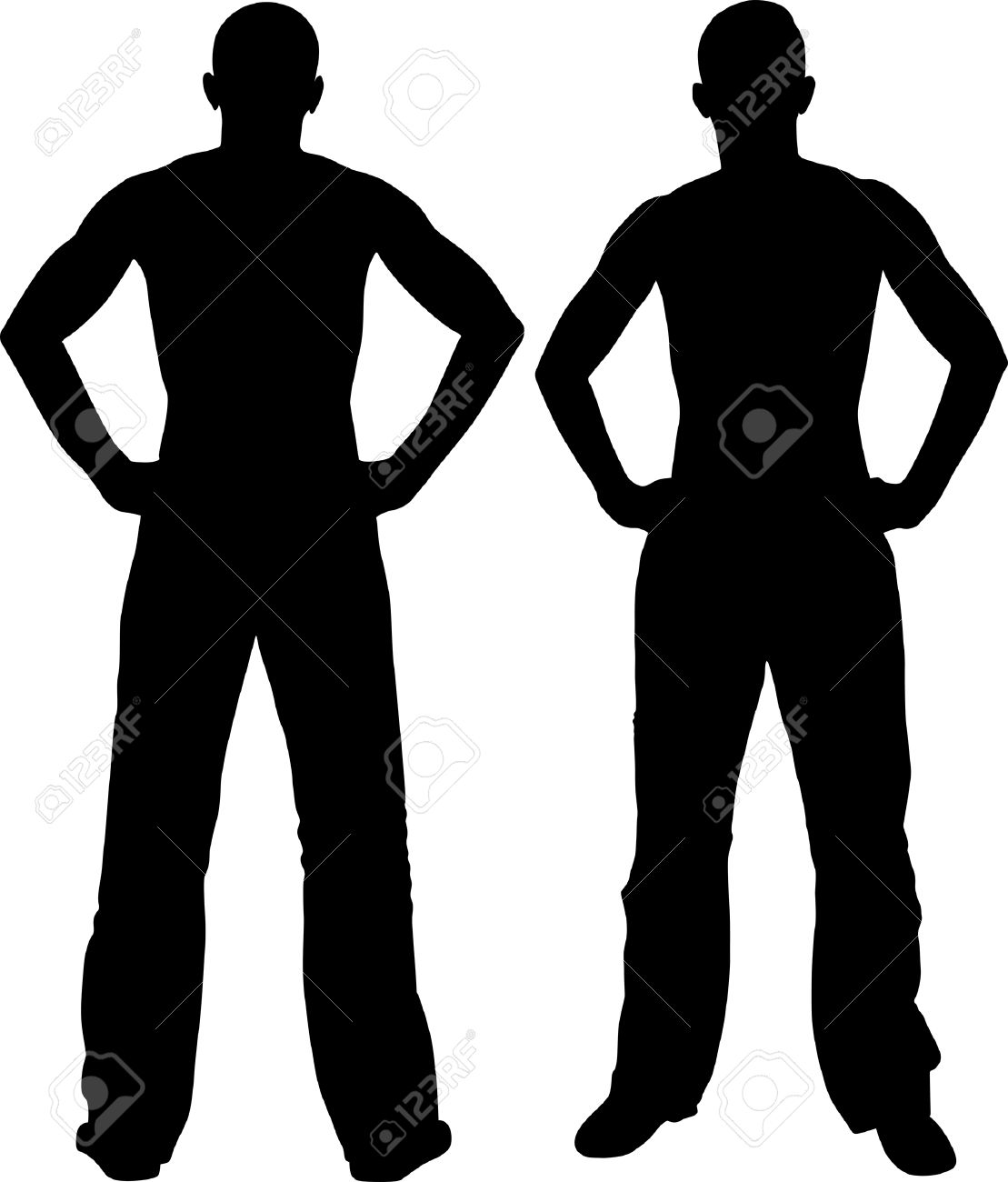 1109x1300 Hands On Hips Silhouette Clipart