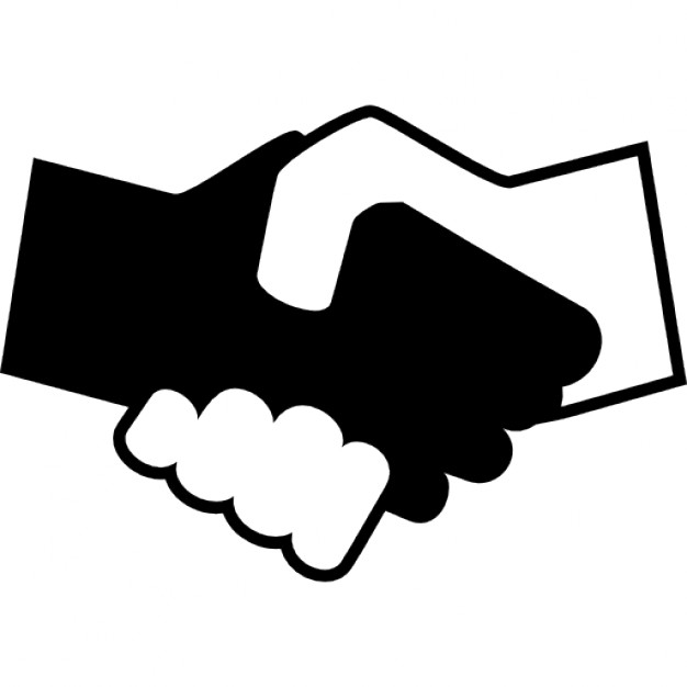 626x626 Black And White Shaking Hands Icons Free Download