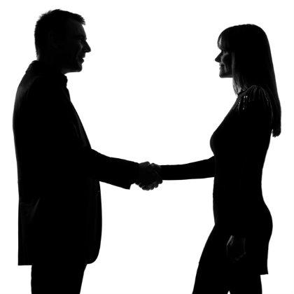 420x420 Handshake Man Woman Silhouette Square